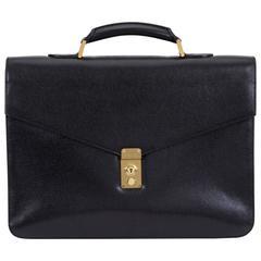 Chanel Black Caviar Unisex Briefcase Bag