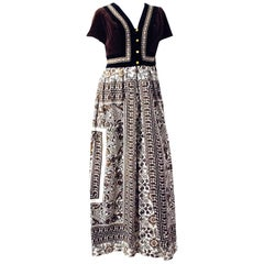 70s Jay Morley for Fern Violette Tapestry Dress