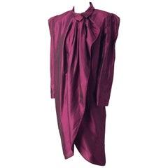 80s Georgio Saint Angelo Pinstripe Evening Shirt Dress