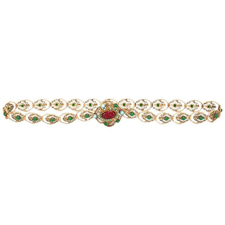 Chanel Medallion Belt For Sale