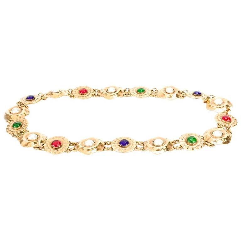 Chanel Medallion Chain Belt For Sale