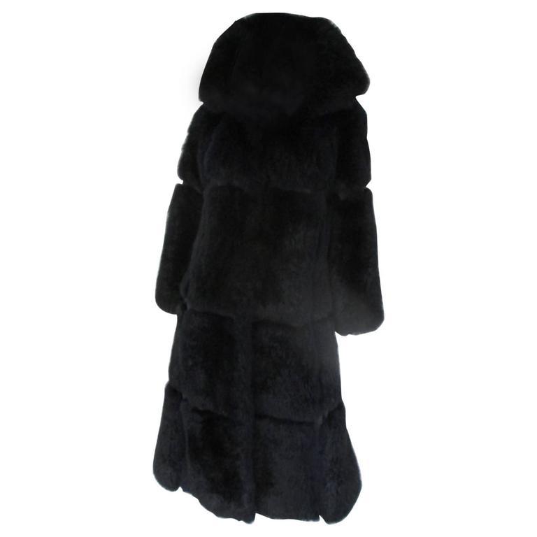Pierre Balmain Dark Blue Fur Coat