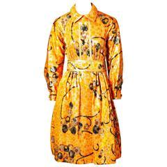 Geoffrey Beene Colorful Brocade Dress C. 1960's