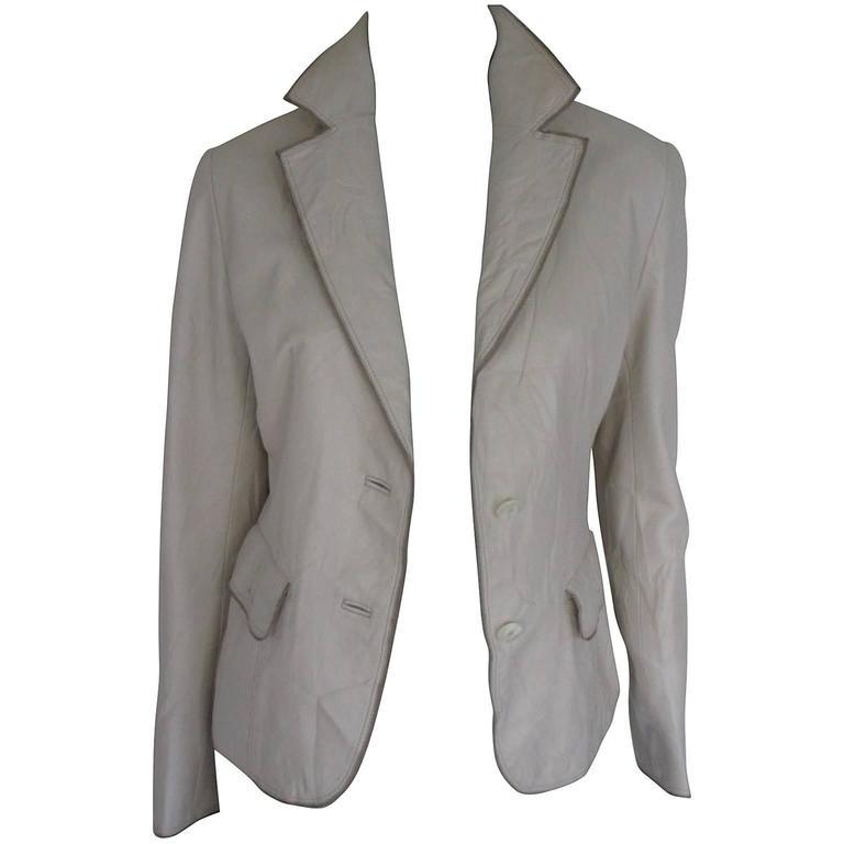 Balmain Paris soft leather jacket For Sale