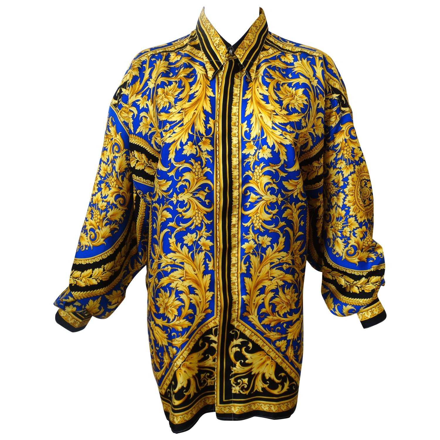 36cd21b2 1994 VERSACE CLASSIC V2 Silk Shirt BAROCCO print at 1stdibs