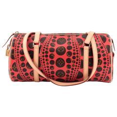 Louis Vuitton Papillon Handbag Limited Edition Monogram Canvas Kusama Waves 30