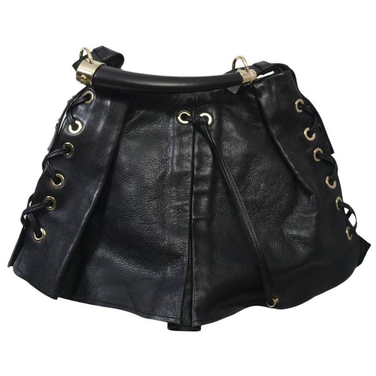 YSL Black Leather Bag 1