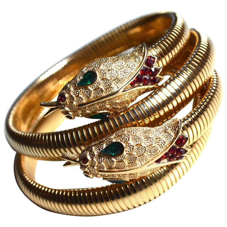 60s Trifari Snake Bracelets For Sale