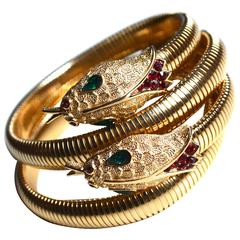 60s Trifari Snake Bracelets