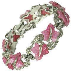 Marcel Boucher Molded Glass and Paste Bracelet