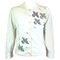 Beaded Birds Cardigan