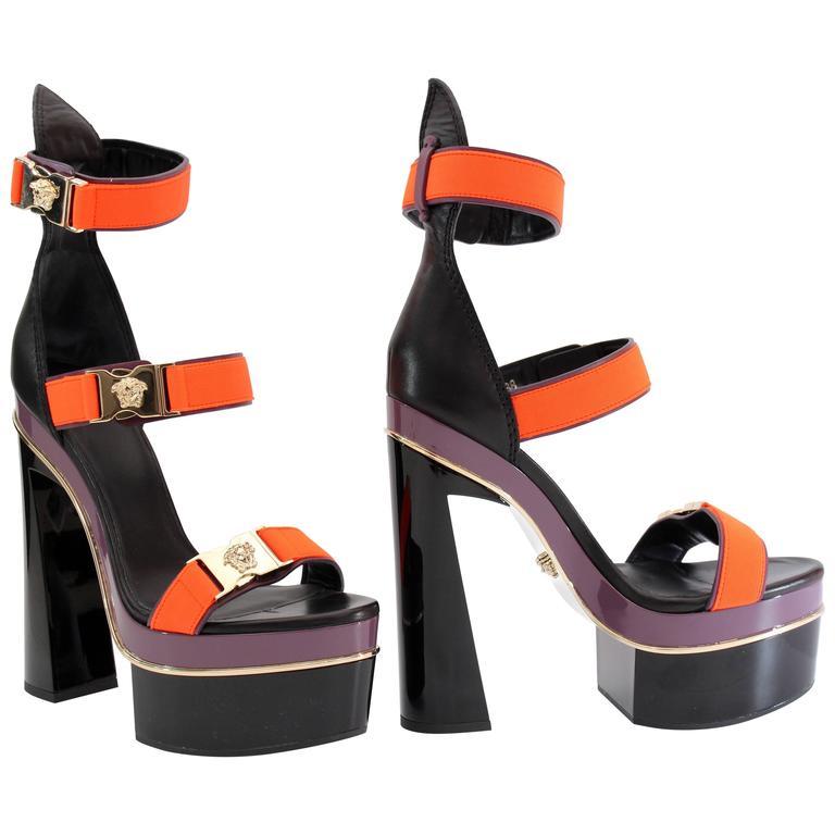 5629baba26e3 New VERSACE Medusa Tri-Strap Platform Sandals at 1stdibs