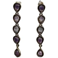 Goossens Paris Fluorine Drop Pierced Earrings