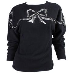 1980's Valentino Sweater with Cutout Bows