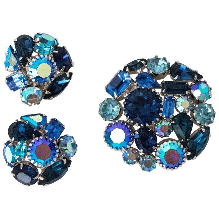 60s Weiss Earring Brooch Set 1