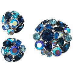 60s Weiss Earring Brooch Set