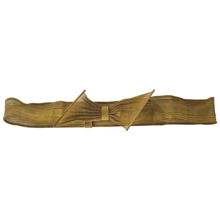 40s Gold Bow Belt