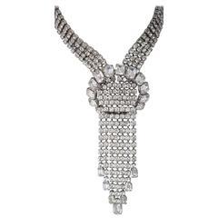 50s Four Strand Rhinestone Necklace