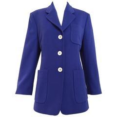 JIL SANDER blue cashmere jacket