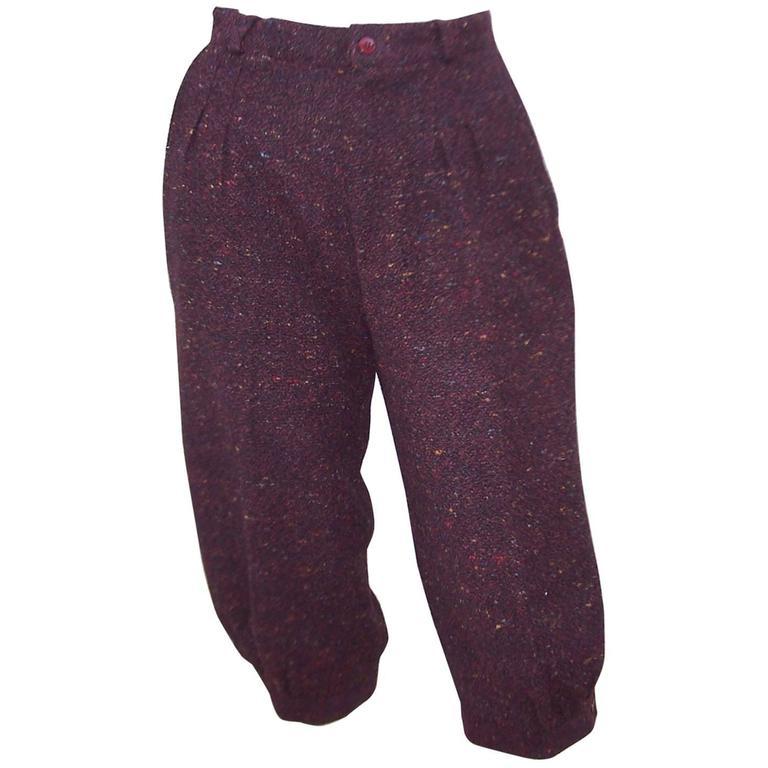 1970's Aubergine Wool Tweed Knickers