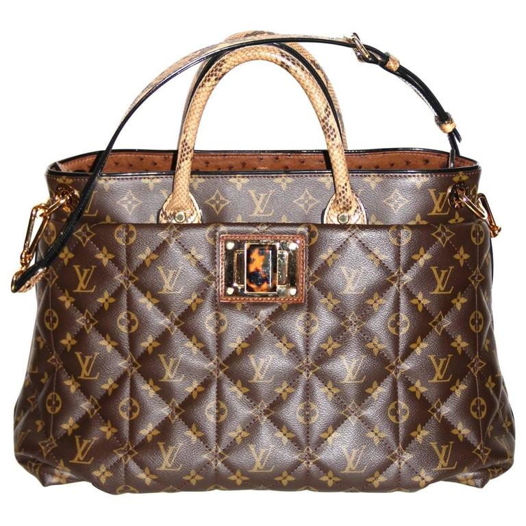 Louis Vuitton Tote Monogram Etoile Bag Quilted Canvas Limited Edition  1