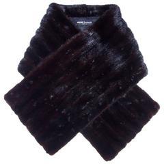 Chic & Glam 1950's Pierre Balmain Black Mink Fur Stole Wrap