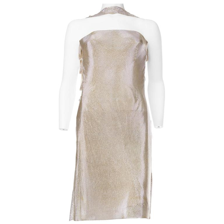 Gianni Versace Couture Metal Mesh Backless Dress with Crystals 2