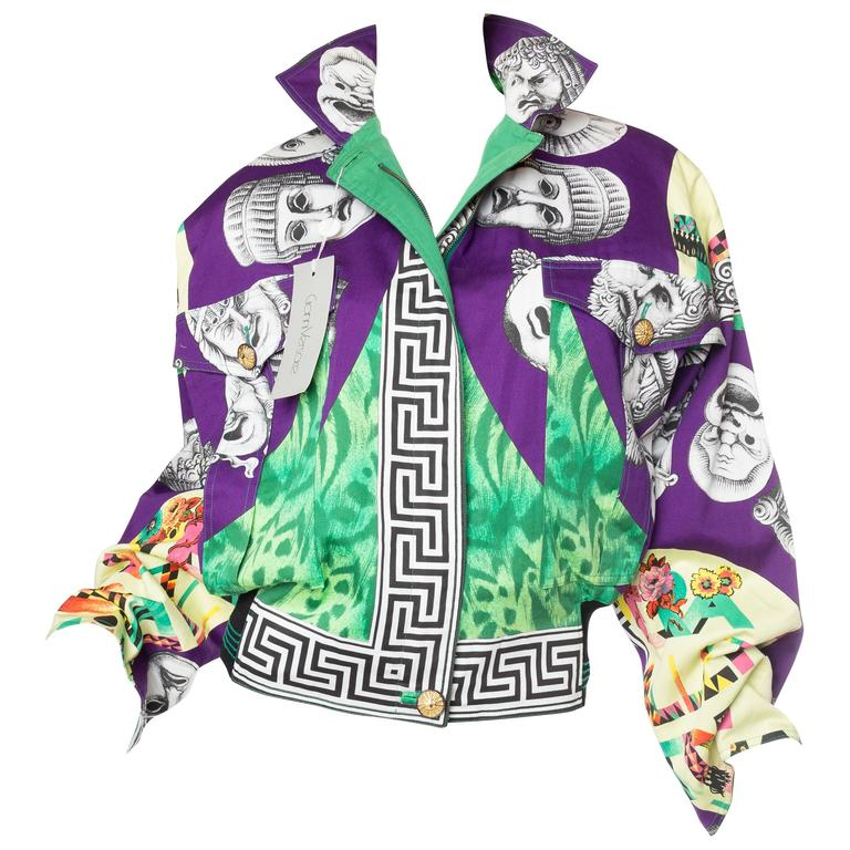 Gianni Versace Ballet Theatre Cinema Bomber Jacket For Sale