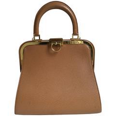 Elegant Christian Dior Tan Bag