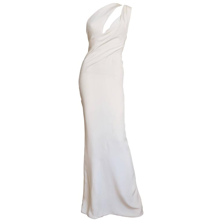 J Mendel Fabulous One Shoulder Slash Front Gown For Sale at 1stdibs