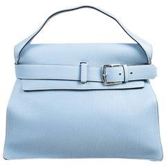 "Hermes ""Bleu Lin"" Blue Togo Leather ""Etribelt"" Handbag"