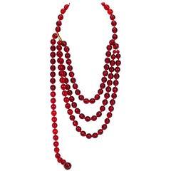 1970s Chanel Gripoix Belt Necklace
