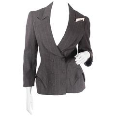 80s Mugler Double Breasted Skirt Suit