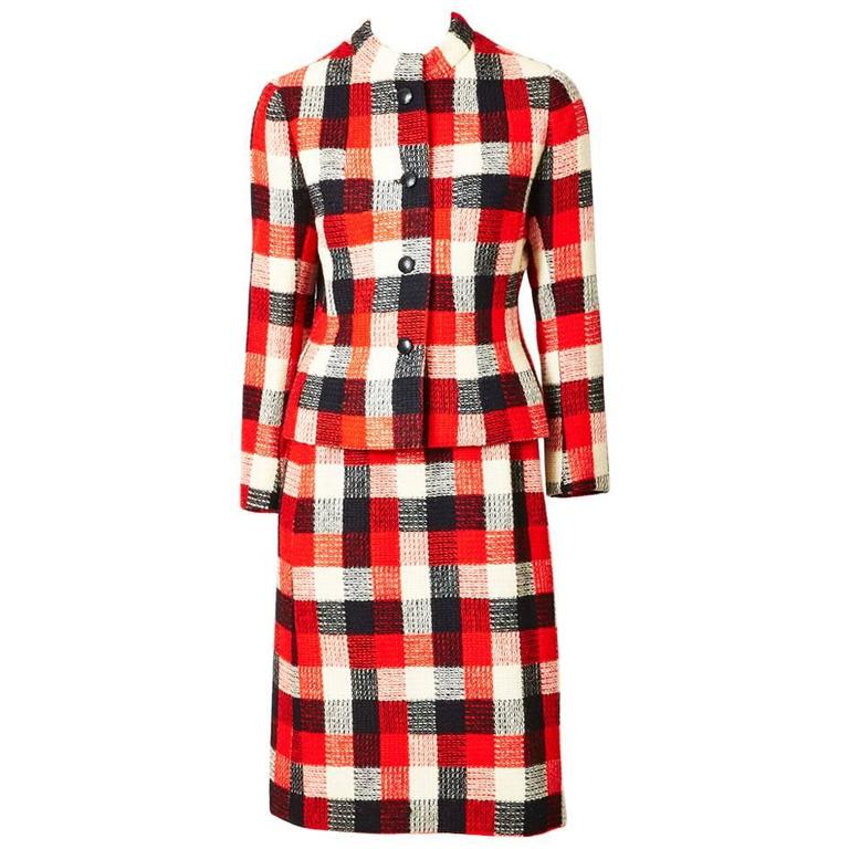 Givenchy Couture Plaid Day Suit For Sale