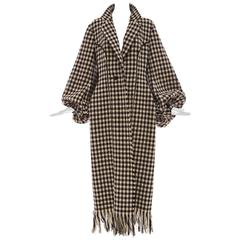 Yohji Yamamoto Black And White Wool Houndstooth Coat, Autumn - Winter 2003