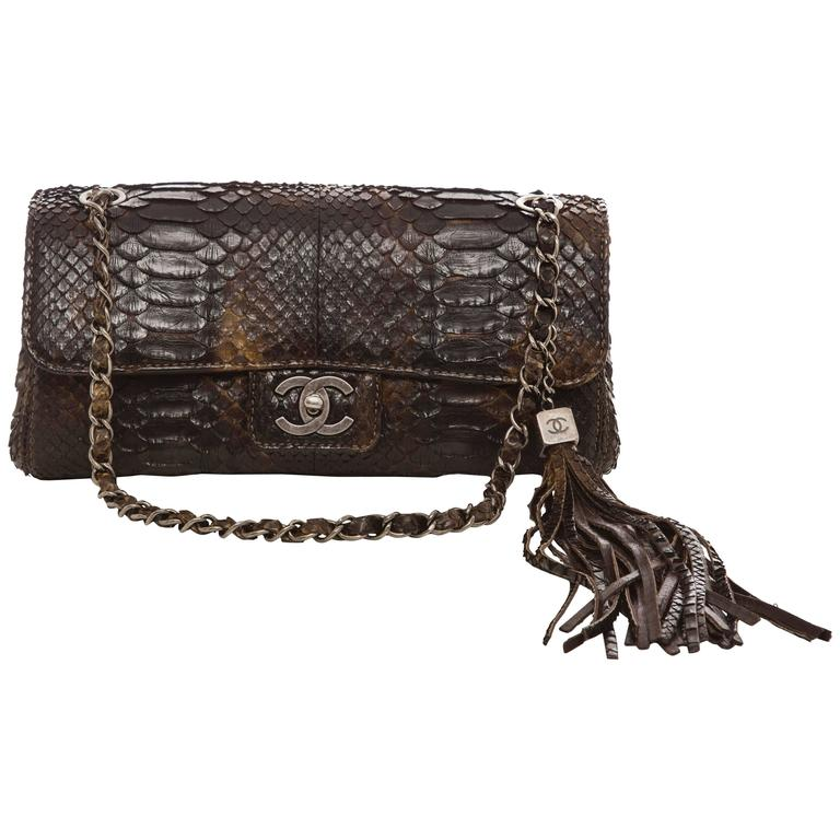 Chanel Soho Tassel Single Flap Python Medium Bag, Autumn - Winter 2006 1