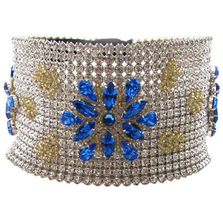 NEW Dolce & Gabbana 3-inch Wide Chocker Rhinestone Necklace 1