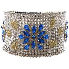 NEW Dolce & Gabbana 3-inch Wide Chocker Rhinestone Necklace