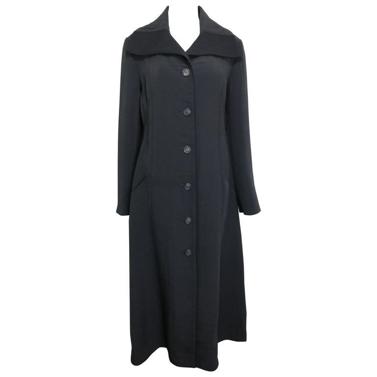 Issey Miyake Black Maxi Coat