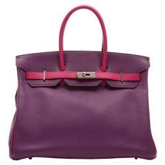Hermes Special Order Bi-colour Togo Leather 35cm Birkin Bag