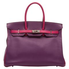 Hermes Special Order Bi-colour Togo Leather 35cm Birkin Bag