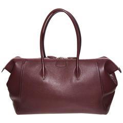 Hermes Paris Bombay Shoulder Bag Tote Prune Togo Leather