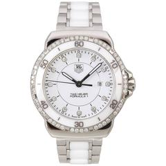 TAG HEUER Ladies Formula 1 Diamond Stainless Steel Ceramic Chronograph Watch
