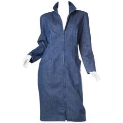 1980s Donna Karan Denim Coat Dress
