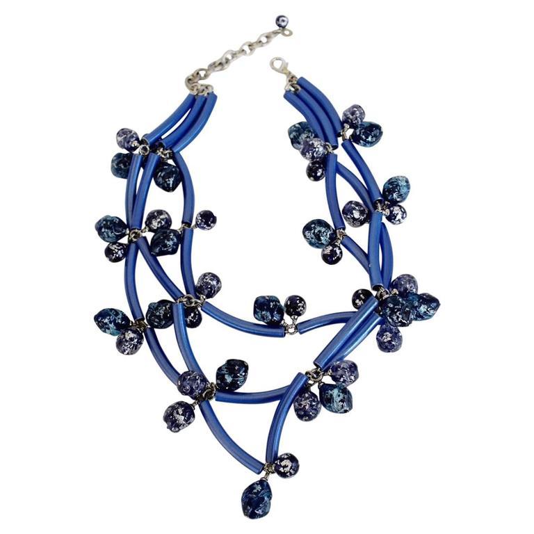 Francoise Montague Blue Elke Necklace  For Sale