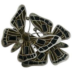 Jean Paul Gaultier Vintage Enameled Butterfly Brooch