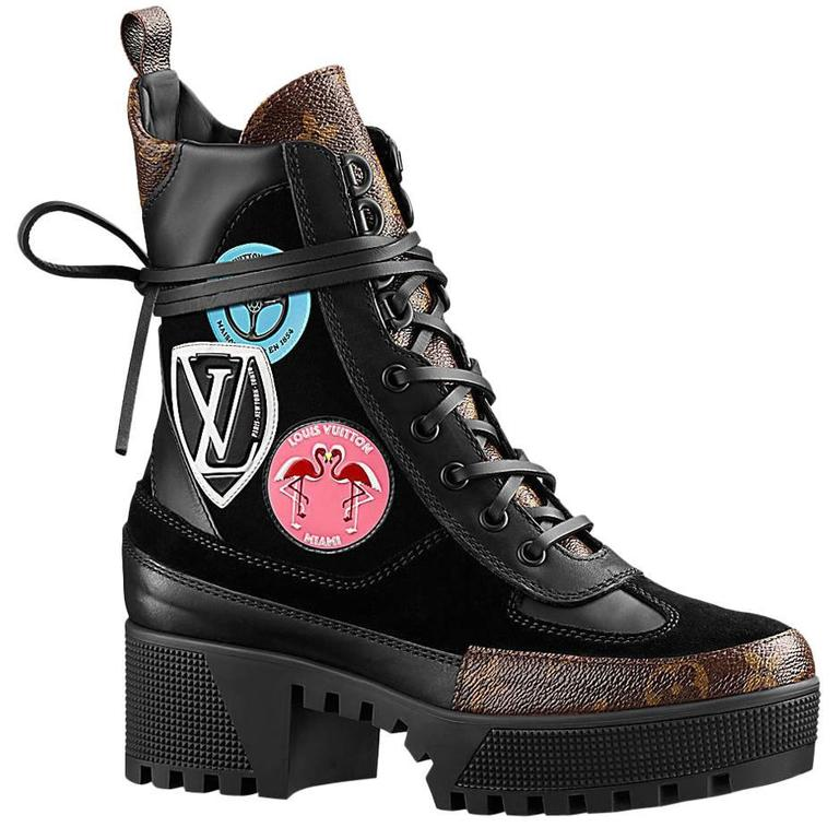Louis Vuitton Checkpoint Combat Desert Boot With Stickers