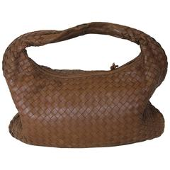 Bottega Veneta Camel medium Intrecciato Leather Shoulder Bag