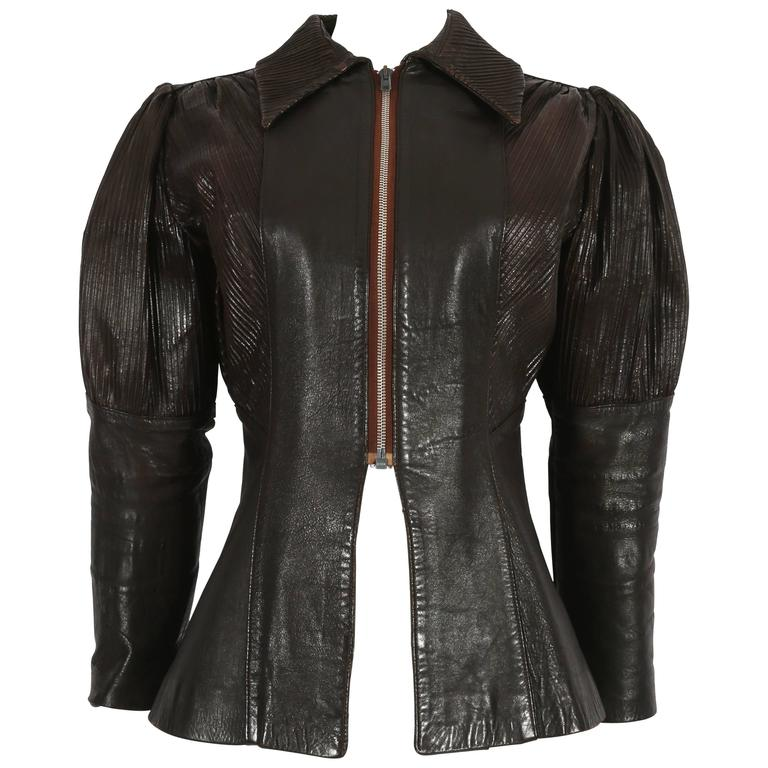 Ossie Clark 'Rocker' leather jacket, circa 1966