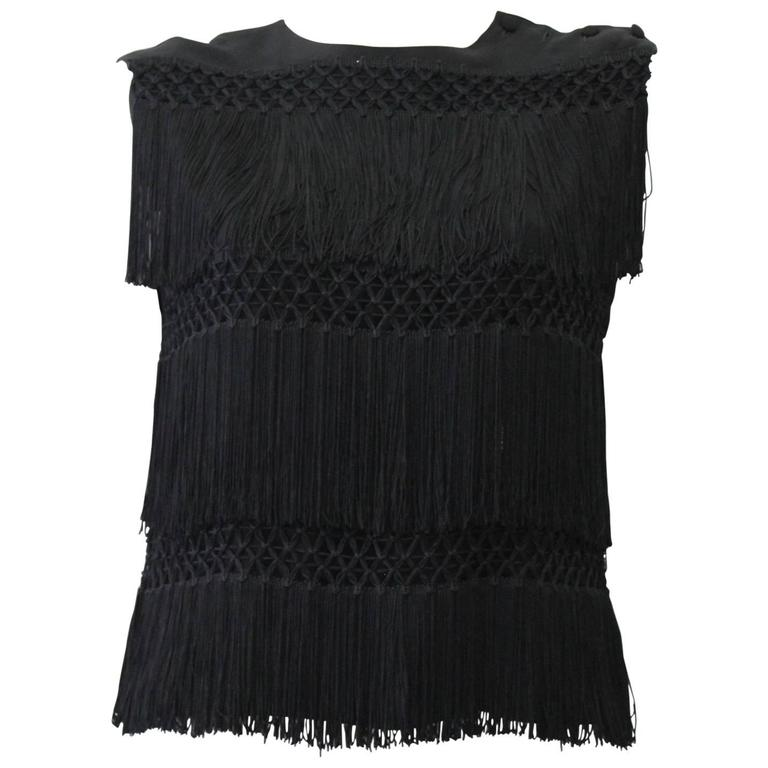 Rare Moschino Top With Fringes